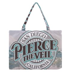 Pierce The Veil San Diego California Zipper Medium Tote Bag by Samandel