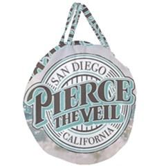 Pierce The Veil San Diego California Giant Round Zipper Tote by Samandel