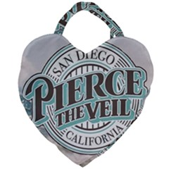 Pierce The Veil San Diego California Giant Heart Shaped Tote by Samandel