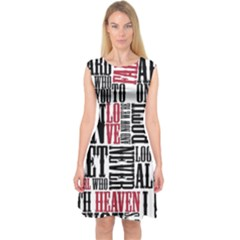 Pierce The Veil Hell Above Lyrics Poster Capsleeve Midi Dress by Samandel