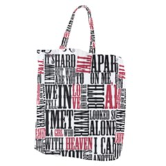 Pierce The Veil Hell Above Lyrics Poster Giant Grocery Zipper Tote