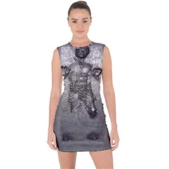 Han Solo Han Lace Up Front Bodycon Dress
