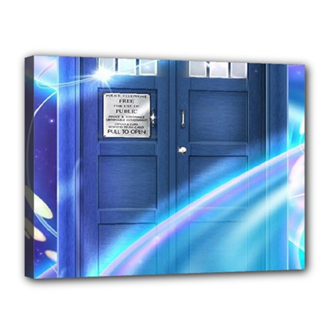 Tardis Space Canvas 16  X 12