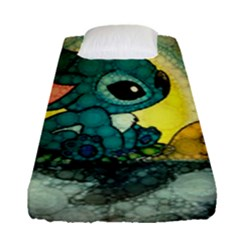 Stich And Turtle Fitted Sheet (single Size)