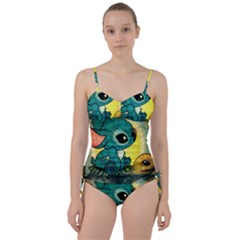 Stich And Turtle Sweetheart Tankini Set