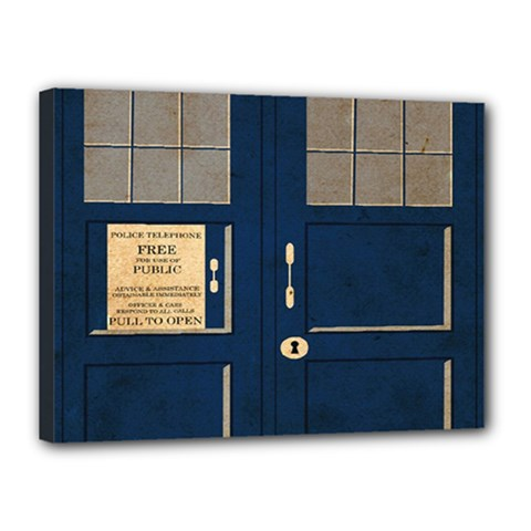 Tardis Poster Canvas 16  X 12  by Samandel