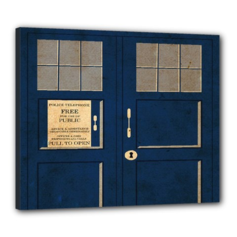 Tardis Poster Canvas 24  X 20  by Samandel