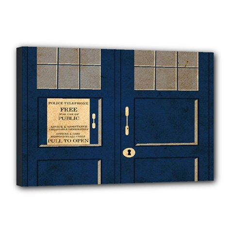 Tardis Poster Canvas 18  X 12