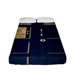 Tardis Poster Fitted Sheet (full/ Double Size)