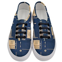 Tardis Poster Women s Classic Low Top Sneakers