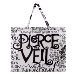 Pierce The Veil Zipper Large Tote Bag by Samandel