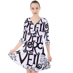 Pierce The Veil Quarter Sleeve Front Wrap Dress