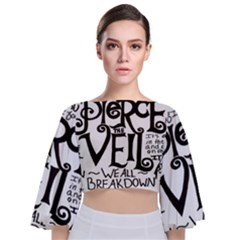 Pierce The Veil Tie Back Butterfly Sleeve Chiffon Top