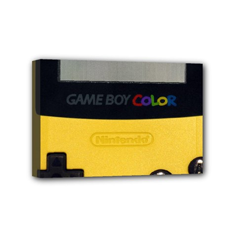 Game Boy Color Yellow Mini Canvas 6  X 4