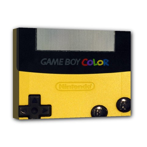 Game Boy Color Yellow Deluxe Canvas 16  X 12