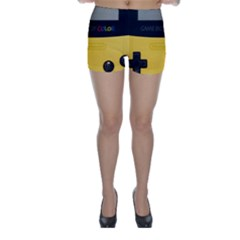 Game Boy Color Yellow Skinny Shorts