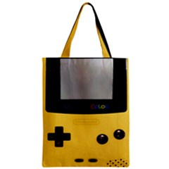 Game Boy Color Yellow Zipper Classic Tote Bag by Samandel