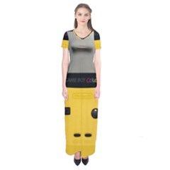 Game Boy Color Yellow Short Sleeve Maxi Dress