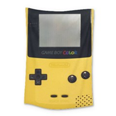 Game Boy Color Yellow Small Tapestry by Samandel