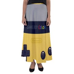 Game Boy Color Yellow Flared Maxi Skirt