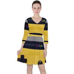Game Boy Color Yellow Ruffle Dress