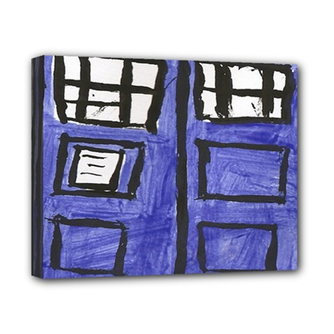 Tardis Painting Canvas 10  X 8  by Samandel