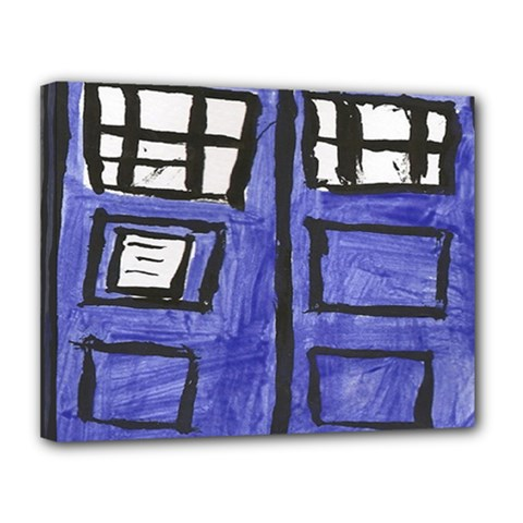 Tardis Painting Canvas 14  X 11  by Samandel