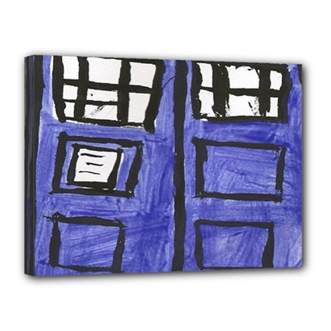 Tardis Painting Canvas 16  X 12