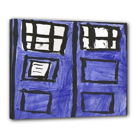 Tardis Painting Canvas 20  X 16  by Samandel
