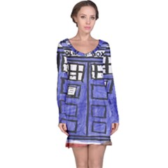 Tardis Painting Long Sleeve Nightdress
