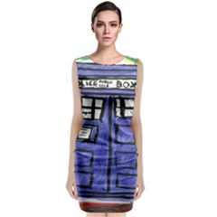 Tardis Painting Classic Sleeveless Midi Dress