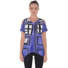 Tardis Painting Cut Out Side Drop Tee