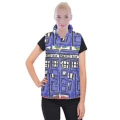 Tardis Painting Women s Button Up Vest
