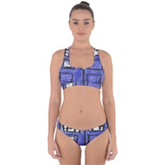 Tardis Painting Cross Back Hipster Bikini Set