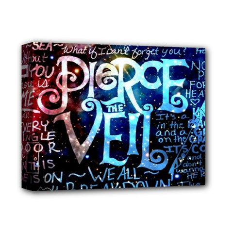 Pierce The Veil Quote Galaxy Nebula Deluxe Canvas 14  X 11  by Samandel