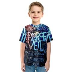 Pierce The Veil Quote Galaxy Nebula Kids  Sport Mesh Tee