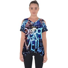 Pierce The Veil Quote Galaxy Nebula Cut Out Side Drop Tee