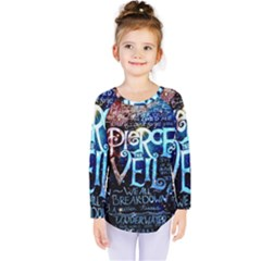 Pierce The Veil Quote Galaxy Nebula Kids  Long Sleeve Tee by Samandel