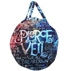 Pierce The Veil Quote Galaxy Nebula Giant Round Zipper Tote