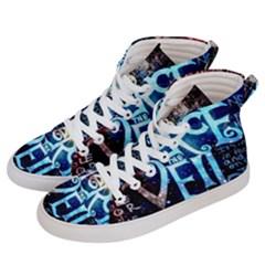 Pierce The Veil Quote Galaxy Nebula Women s Hi Top Skate Sneakers by Samandel
