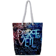 Pierce The Veil Quote Galaxy Nebula Full Print Rope Handle Tote (small)