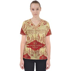Marauders Map Scrub Top