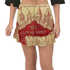 Marauders Map Fishtail Mini Chiffon Skirt