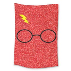 Glasses And Lightning Glitter Large Tapestry
