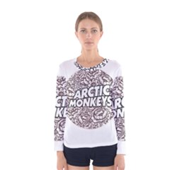 Artic Monkeys Flower Circle Women s Long Sleeve Tee