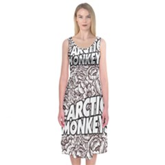 Artic Monkeys Flower Circle Midi Sleeveless Dress