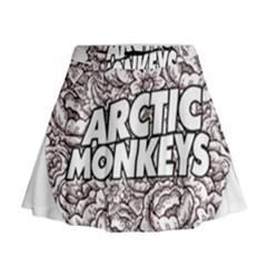 Artic Monkeys Flower Circle Mini Flare Skirt