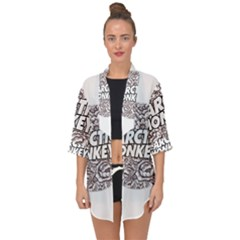 Artic Monkeys Flower Circle Open Front Chiffon Kimono
