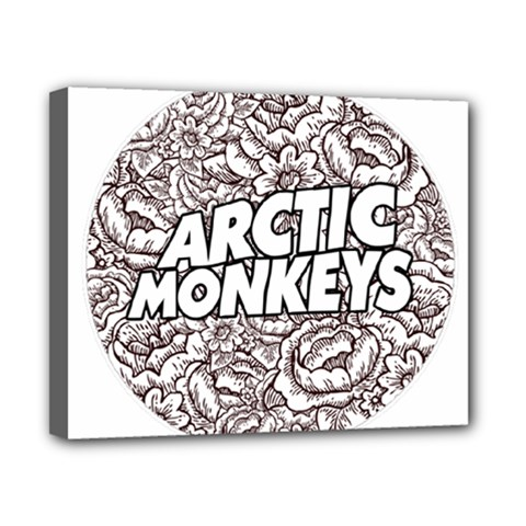 Arctic Monkeys Flower Circle Canvas 10  X 8