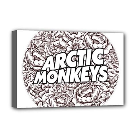 Arctic Monkeys Flower Circle Deluxe Canvas 18  X 12